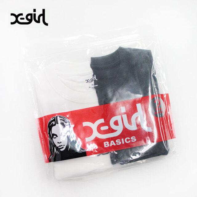 X-girl,エックスガール,2P半袖Tシャツ,105215011003