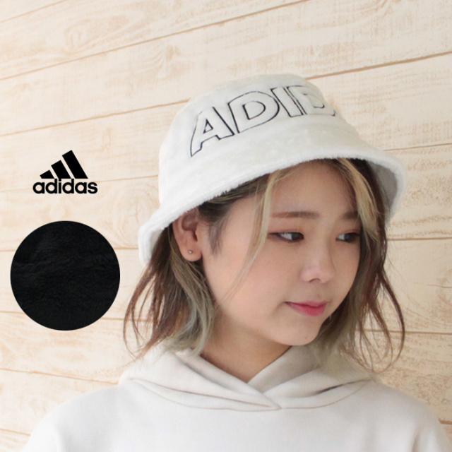 adidas アディダス FAKE FUR HAT フェイクファーハット バケットハット 107-111801