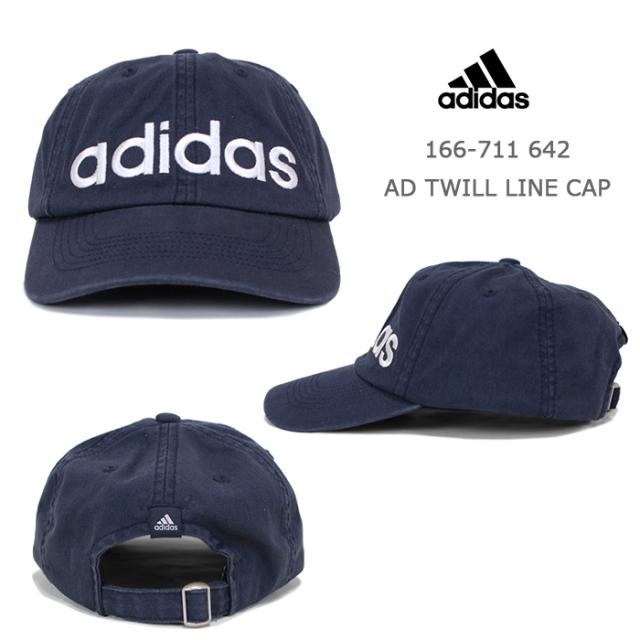 adidasアディダスコットンツイルローキャップ166-711642