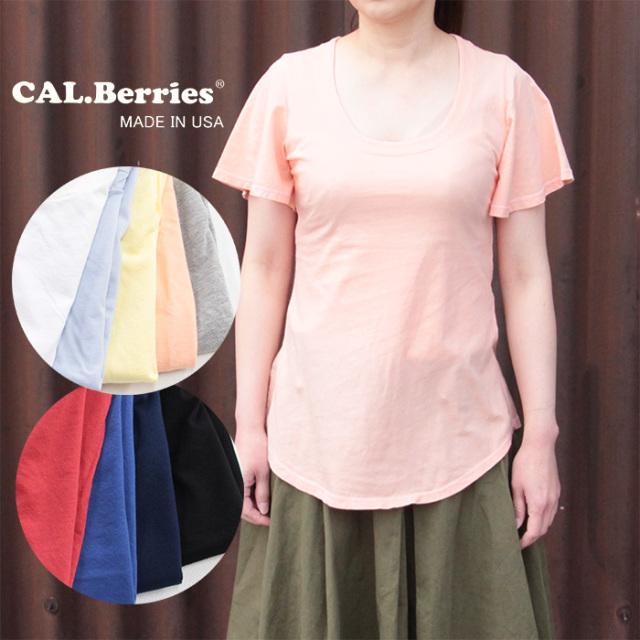 CAL.Berries カルベリーズ  レディース WIND CHASER TEE フリルスリーブTシャツ 3540J005