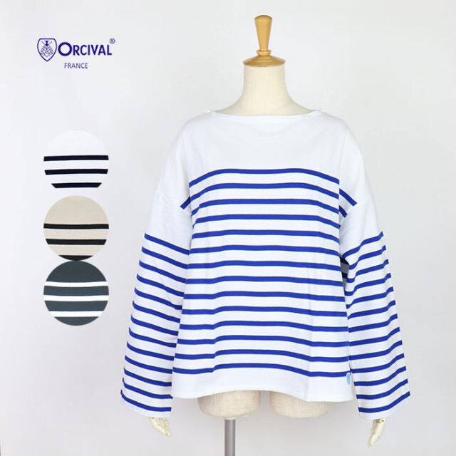 ORCIVAL オーシバル レディース ラッセルフレンチセーラードロップショルダーTシャツ 6819