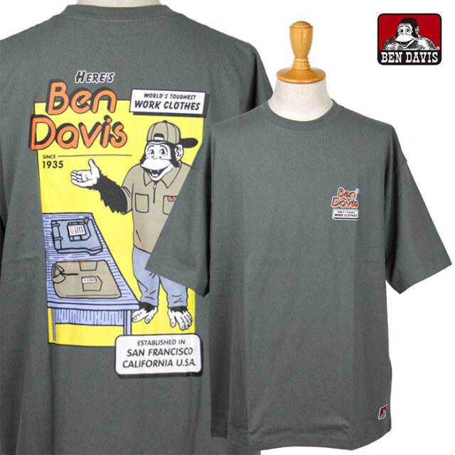 BEN DAVIS,ベンデイビス,プリントTシャツ,半袖,C-1580015