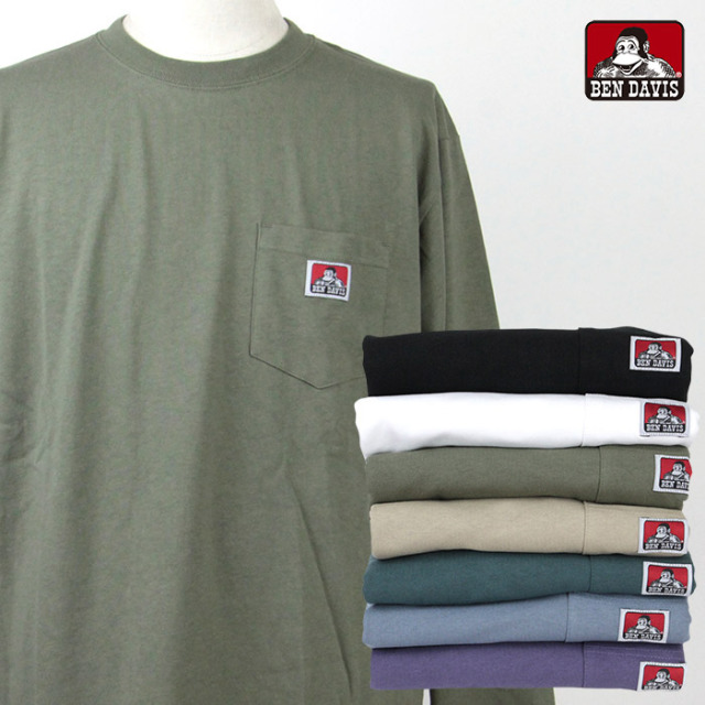 BEN DAVIS,ベンデイビス,ポケットTシャツ,長袖,C-1780027