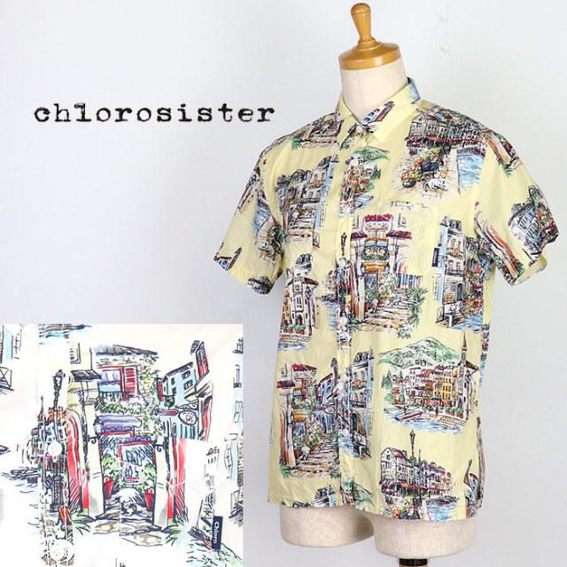 Chloro sister クロロシスター  レディース 柄半袖シャツ C303L