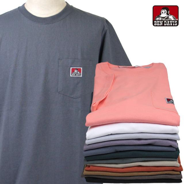 BEN DAVIS,ベンデイビス,Tシャツ,ポケT,半袖,C-9580000