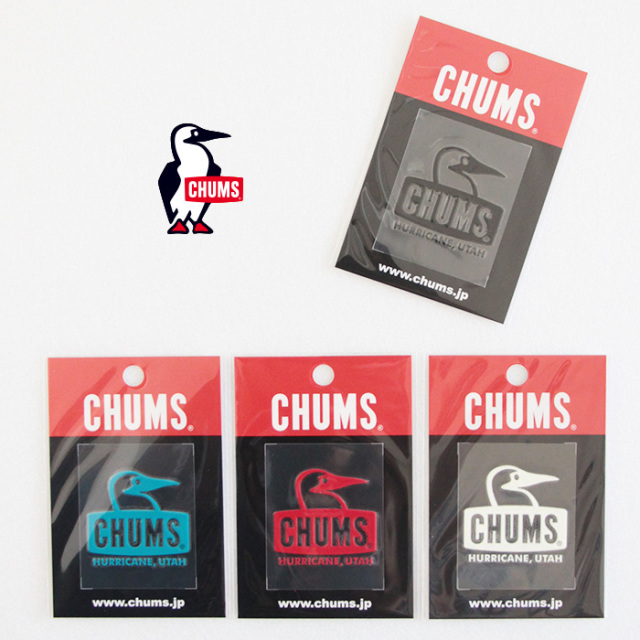 CHUMS チャムス Booby Face Emboss Sticker エンボスステッカー CH62-1127