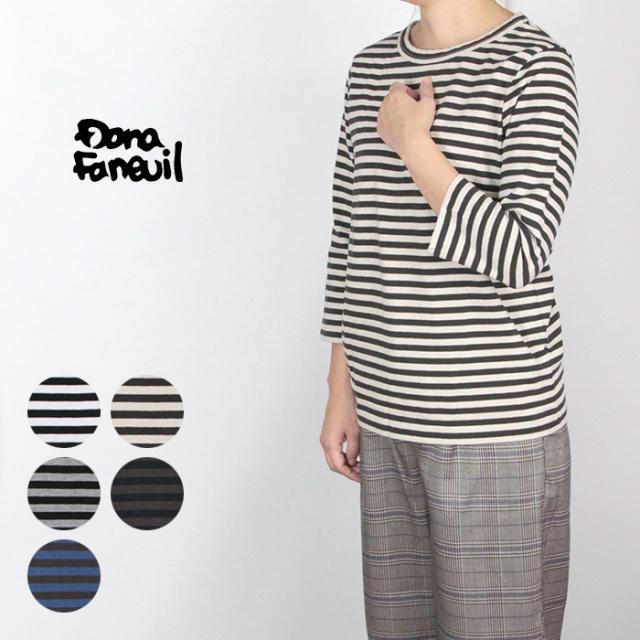 Dana Faneuil/ダナファヌル ムラ糸ボーダー七分袖 D5715305A