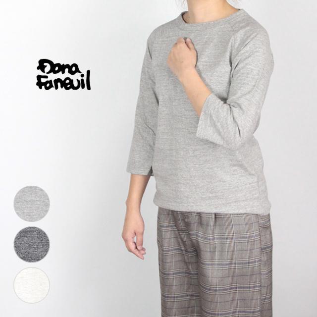 Dana Faneuil/ダナファヌル ムラ糸七分袖Tシャツ D5717303