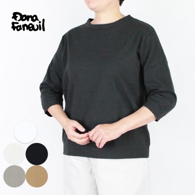 Dana Faneuil ダナファヌル  レディース  ムラ糸セットイン 7分袖 D-5721301