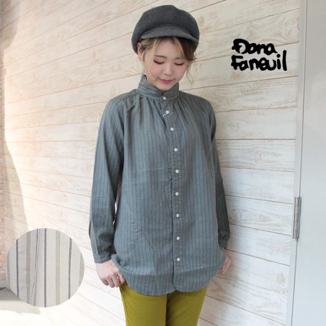 Dana Faneuil ダナファヌル レディース ストライプ ロングシャツ D-6320404