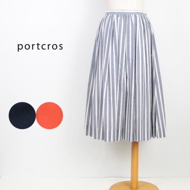 portcros ポートクロス  レディース ローンタックギャザースカート I-8221