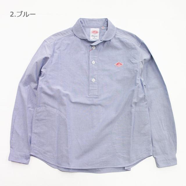 DANTON,ダントン,丸襟プルオーバーシャツ,JD-3564
