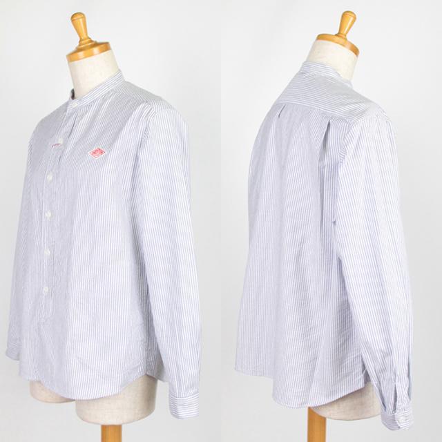 DANTON,ダントン,長袖バンドカラーシャツ,JD-3606TRD