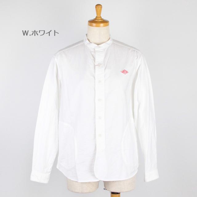 DANTON,ダントン,長袖バンドカラーシャツ,JD-3606YOX
