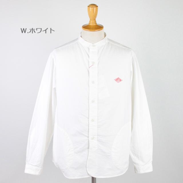 DANTON,ダントン,長袖バンドカラーシャツ,JD-3607YOX