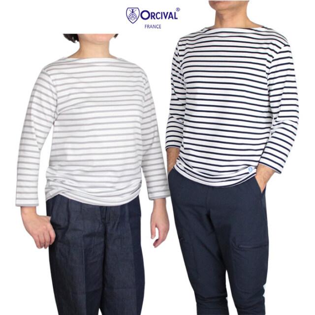ORCIVAL オーシバル ユニセックス ボートネック7分袖Tシャツ  RC-9224