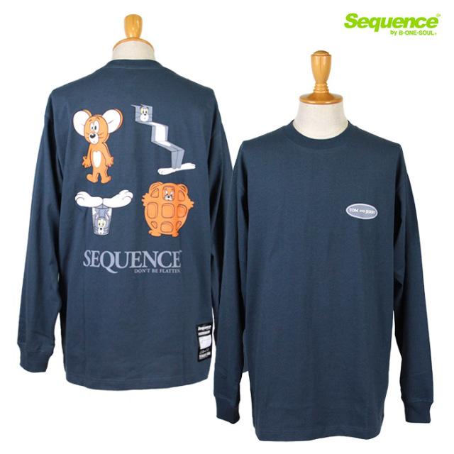 Sequence,シーケンス,ロンT,長袖Tシャツ,トムとジェリー,T-0770907