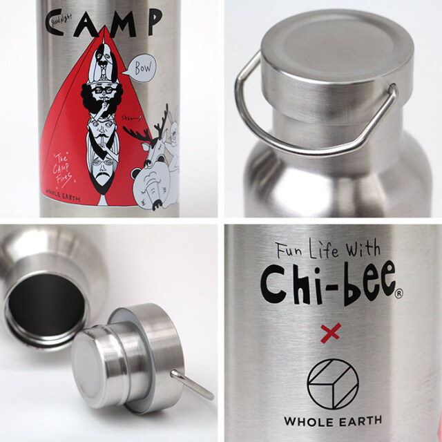 WHOLE EARTH,ホールアース,Chi-bee,チービー,水筒,ボトル,キャンプ,WE2KFZ05