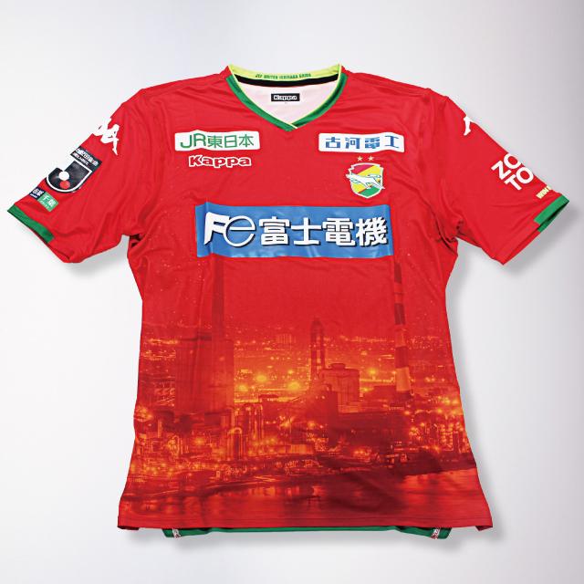サマーナイトオーセンティックゲームシャツ(工場夜景バージョン)GKレッド