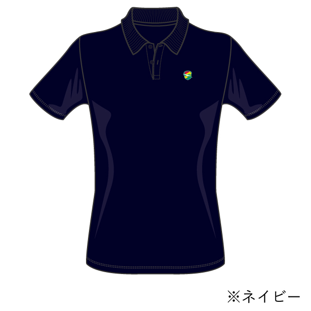 エンブレム刺繍ポロシャツ