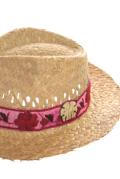 ストローハット(中折れ帽子)