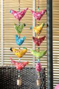 小鳥の吊るし飾り ハンギング5連バード