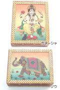 砂絵フタ付きシーシャム小物入れBOX(大)