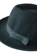 フェルト中折れ帽/ブラック