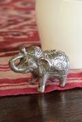 象の金属製置物(小)