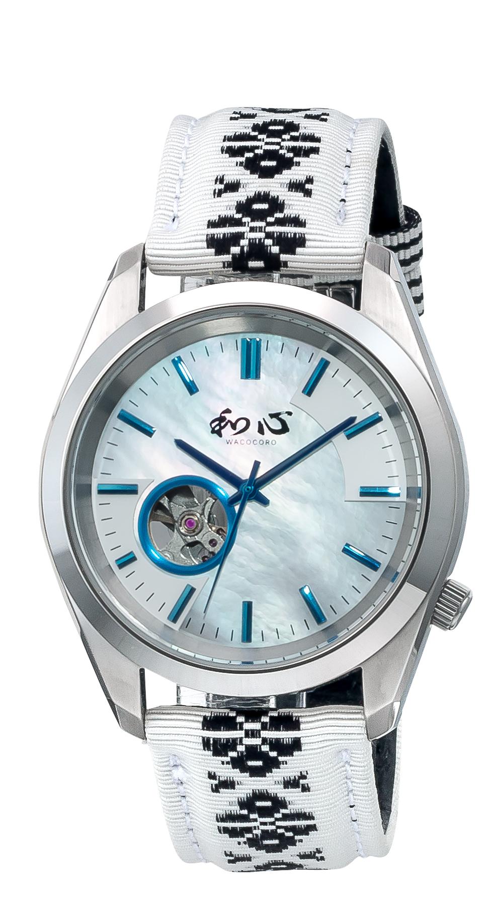 和心・日本製・腕時計(自動巻)・博多織・メンズ(男性用) 日本製・送料無料