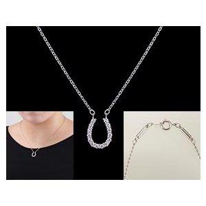 医療機器認定の磁気ネックレス 幸運を呼ぶ馬蹄モチーフ おしゃれ 女性 肩こり 肩こり解消 肩こりネックレス 約45cm