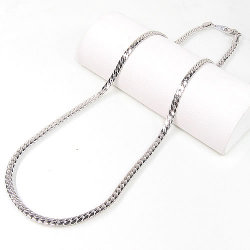 ゲルマニウムネックレス  約 50cm(シルバー輝きコーティング・...