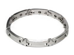 SILVER ・925(銀製) ゲルマニウム粒8石ブレスレット・送料無料