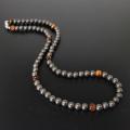 ゲルマニウムボール 天然石タイガーアイ入り ネックレス・本物の効果 肩こり 腰痛