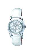 ロマネッティ腕時計・10年電池・牛革型押バンド・(カラーホワイト)レディス(女性用)送料無料