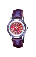 ロマネッティ・腕時計・10年電池・牛革型押バンド・(ブラウン)レディース(女性用)・送料無料