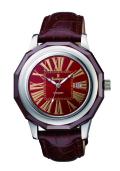 ロマネッティ 腕時計・10年電池・牛革型押バンド・(ブラウン)メンズ(男性用)送料無料