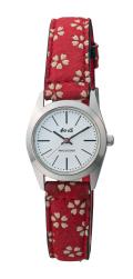 【和心】 シルバー文字盤 クオーツ 腕時計 レディース(女性用) 日本製・送料無料