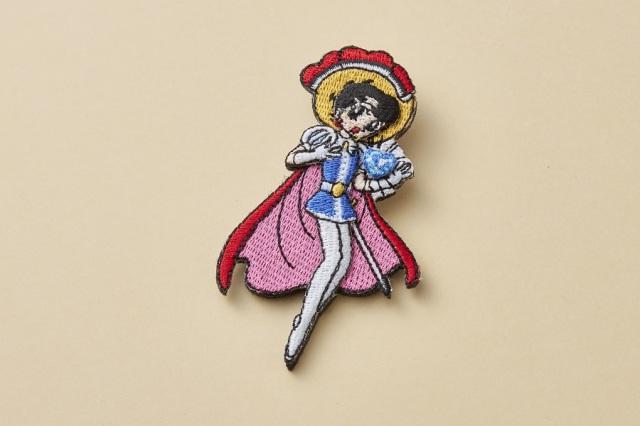 LMエルム リボンの騎士立体刺繍ブローチ