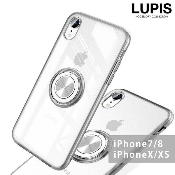 メタルリングクリアiPhone用ケース【iPhone7・iPhone8・iPhoneX・iPhoneXS】