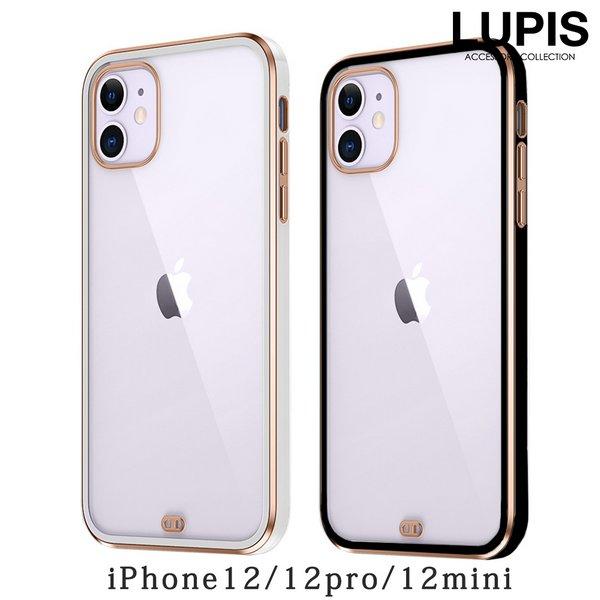 モノトーン×メタルフレームクリアiPhoneケース【iPhone12・iPhone12Pro・iPhone12mini】