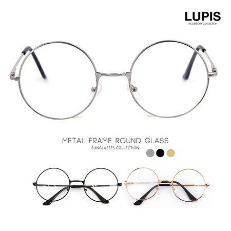 メタルフレーム丸メガネ