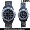 ブラックデザイン3連ベルトラウンドペアウォッチ・ペア腕時計(レディース・メンズ)