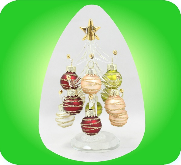 ガラスツリー クリスマスカラー