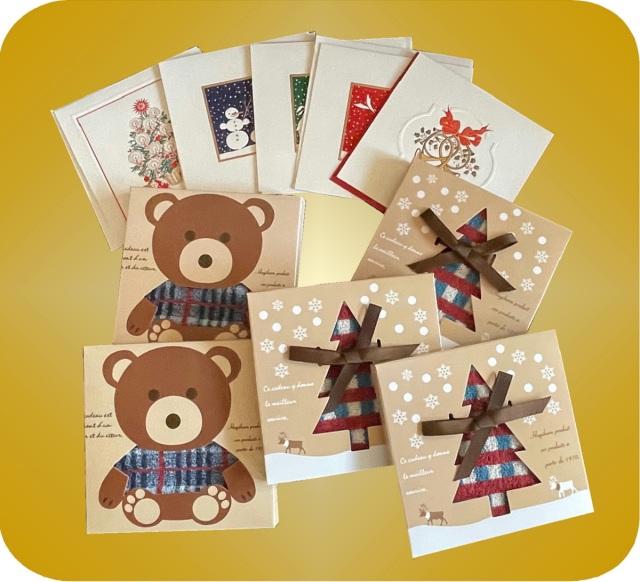 クリスマスカード&タオルハンカチセット(BOX)