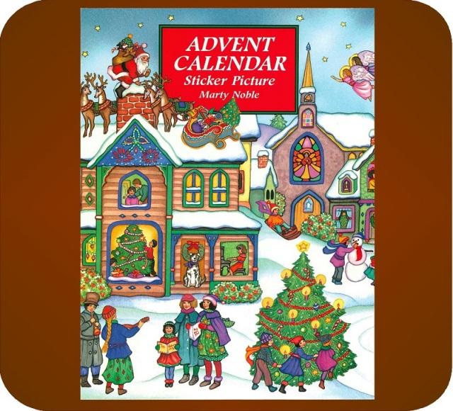 ステッカーアドベントカレンダー「クリスマスの町」