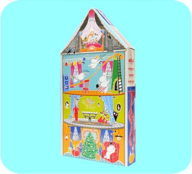 ムーミン フィギュア アドベントカレンダー クリスマスハウス