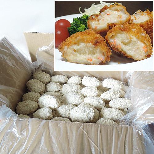 富山県産の蟹(カニ)クリームコロッケを販売