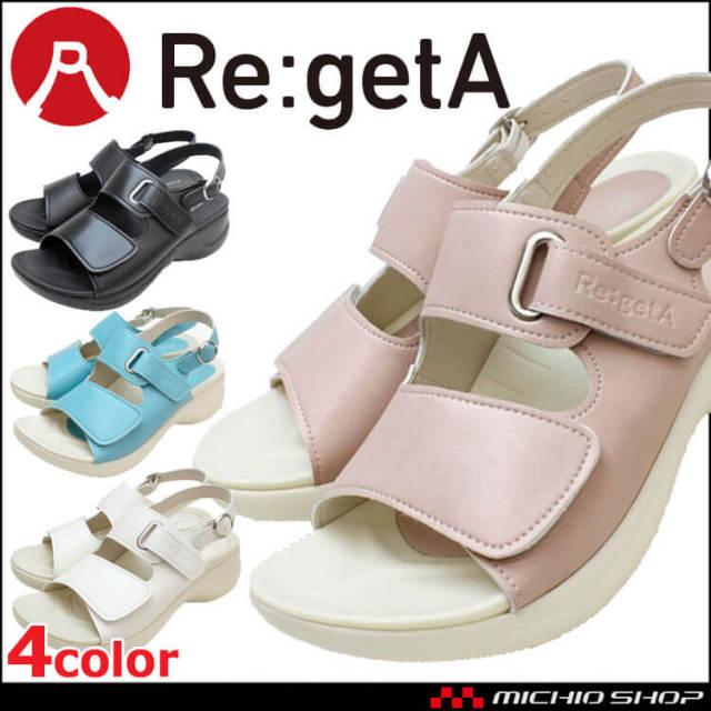 靴 シューズ 医療 事務 ディーフェイズ Re:getA Work リゲッタ・ワーク コンフォートサンダル RW-1001 レディース