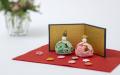 雛飾りセット(緑・ピンク)
